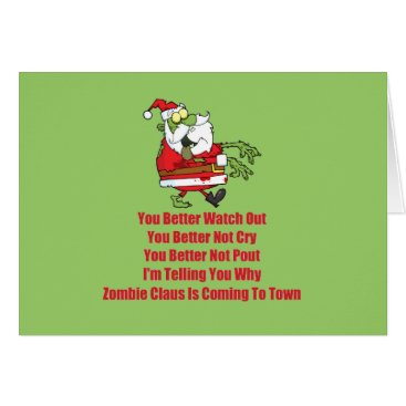 thezombiezone Zombie Claus (green) Card