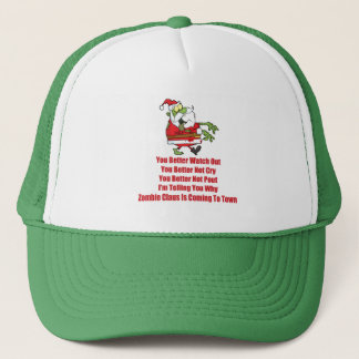 Zombie Claus (green) Trucker Hat