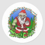 Zombie Claus Stickers