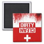 zombie clean dirty dishwasher fridge magnet