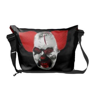 zombie clown courier bag