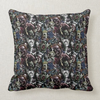 Zombie Cluster Throw Pillow