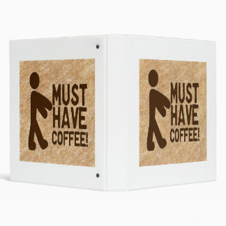 Zombie Coffee 3 Ring Binder