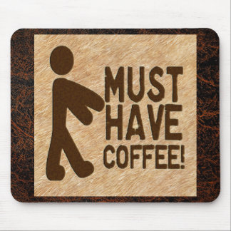 Zombie Coffee Mouse Pad