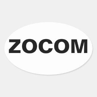 Zombie Combat Command Oval Sticker