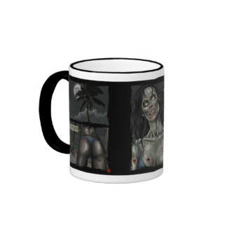 Zombie Comic Strip Ringer Coffee Mug
