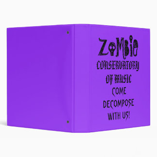 Zombie Conservatory of Music Binder
