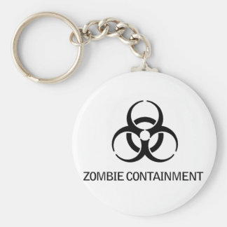 Zombie Containment Basic Round Button Keychain