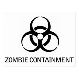 Zombie Containment Post Card
