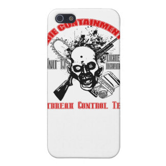 Zombie Containment Red & Black iPhone 5 Cover