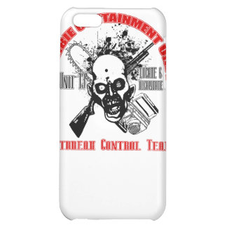 Zombie Containment Red & Black iPhone 5C Cases