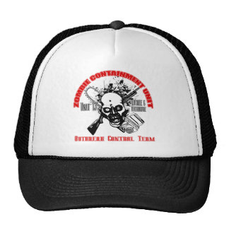 Zombie Containment Unit - Outbreak Control Team Trucker Hats