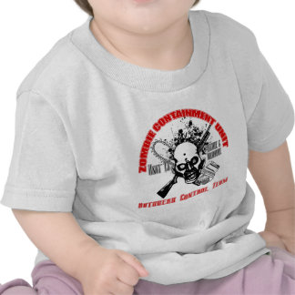 Zombie Containment Unit - Outbreak Control Team Tshirts