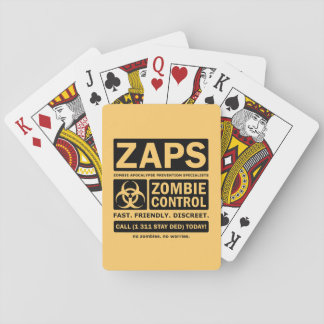 Zombie Control Deck Of Cards