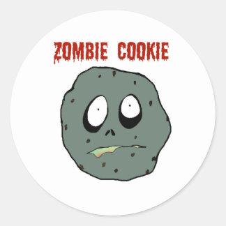 Zombie cookie classic round sticker