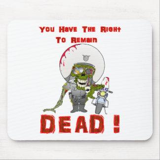 Zombie Cop Mouse Pad