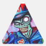 Zombie Cop Triangle Sticker