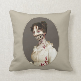 Zombie Cover Throw Pillow