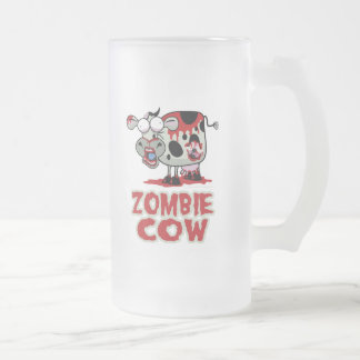 Zombie Cow 16 Oz Frosted Glass Beer Mug