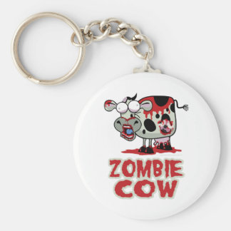 Zombie Cow Basic Round Button Keychain