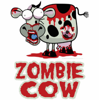 Zombie Cow Standing Photo Sculpture