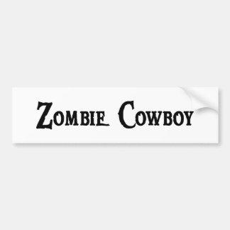 Zombie Cowboy Bumper Sticker Car Bumper Sticker