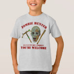 Zombie Crossbow Bat   Funny Hunter Youre Welcome T-Shirt