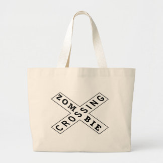 Zombie Crossing Tote Bags