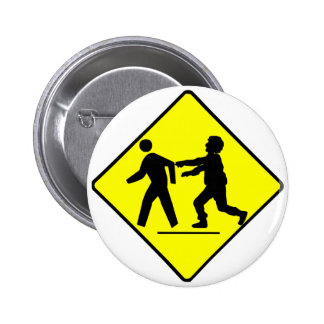 Zombie Crossing 2 Inch Round Button