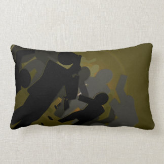 Zombie Crossing Lumbar Pillow