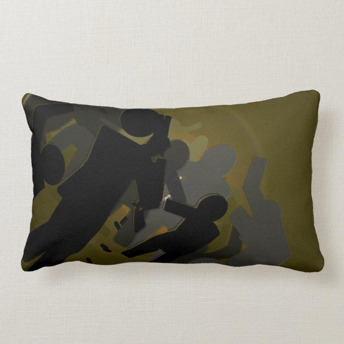Zombie Crossing Lumbar Pillow