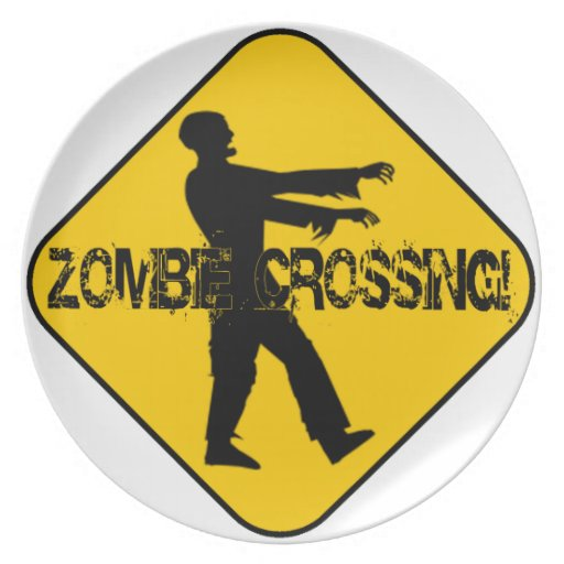 Zombie Crossing Party Plate