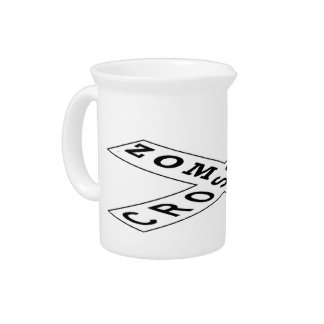 Zombie Crossing Beverage Pitcher