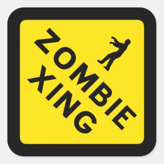Zombie Crossing Sticker