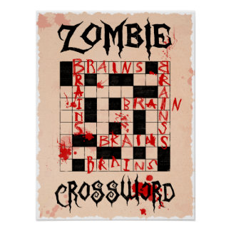 Zombie Crossword Poster