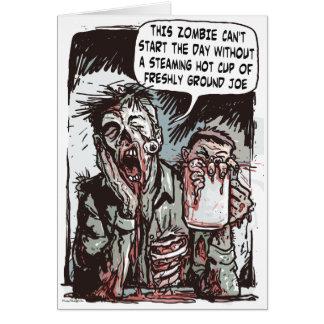 Zombie Cup of Joe Card