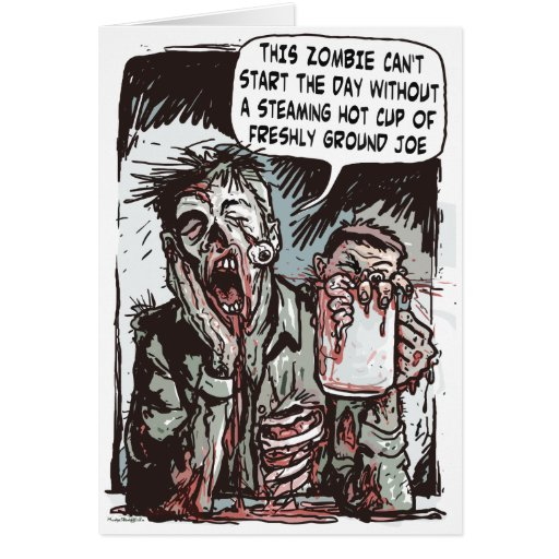 Zombie Cup of Joe Cards