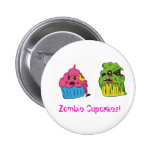 Zombie Cupcake Badge Pinback Buttons