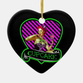 Zombie Cupcake Ceramic Ornament