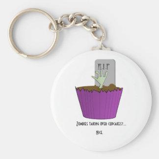 Zombie Cupcake Keychain
