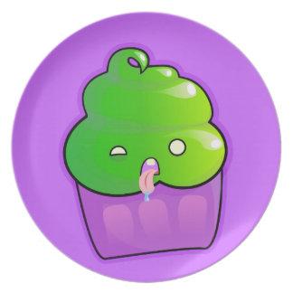 Zombie Cupcake Melamine Plate