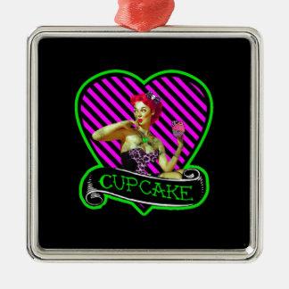 Zombie Cupcake Metal Ornament