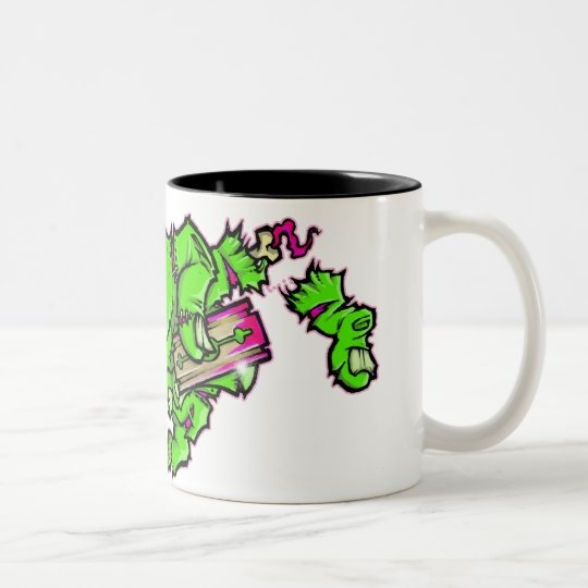 zombie cuts Two-Tone coffee mug