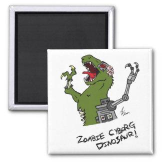 Zombie Cyborg Dinosaur Magnet