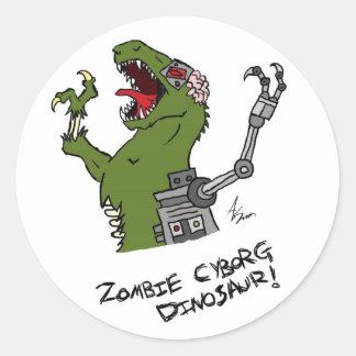 Zombie Cyborg Dinosaur Stickers