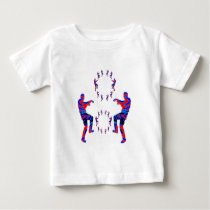 ZOMBIE DA NCE  pattern FUNNY CARTOON COMIC Baby T-Shirt