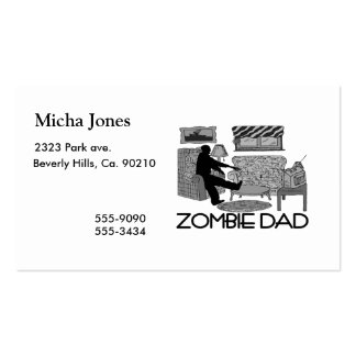 Zombie Dad Double-Sided Standard Business Cards (Pack Of 100)
