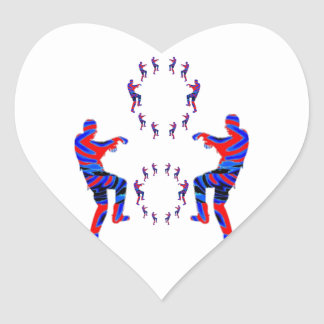 Zombie Dance - Kids PaperCraft Giveaways Heart Sticker