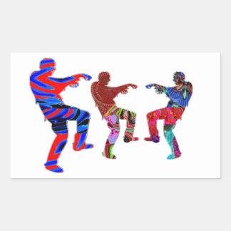 Zombie Dance - Kids PaperCraft Giveaways Rectangular Sticker