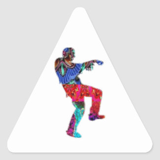Zombie Dance - Kids PaperCraft Giveaways Triangle Sticker